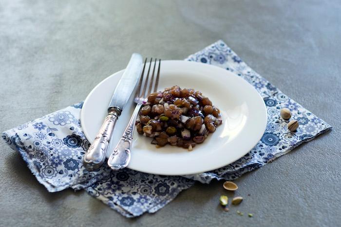 Tartare de thon à l'arôme de pistache