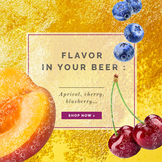 Flavor in your beer : Apricot, cherry, blueberry...... Néroliane